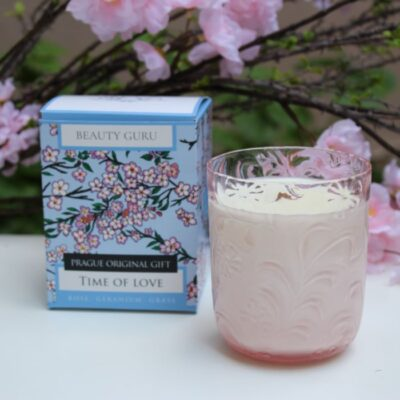 sojová svíčka - Beauty Guru - Přírodní svíčky - esenciální olej - sojový vosk